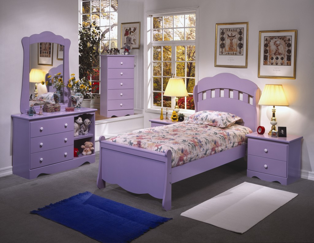 kids innovations furniture 10723 | andy twin bedroom set purple color code 6706br